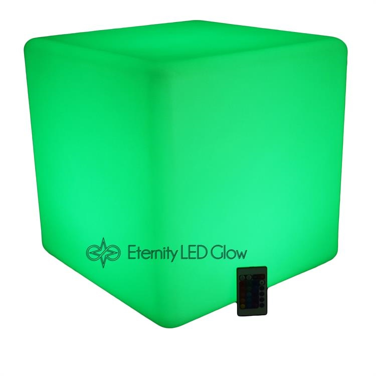 chair with light simple desk led cube seat up glow eternity