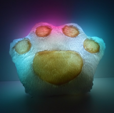 LED Paw Pillow  Bright LED Lights  Eternity LED