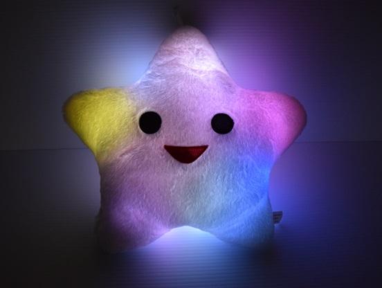LED Light Up Star Pillow  Eternity LED Glow
