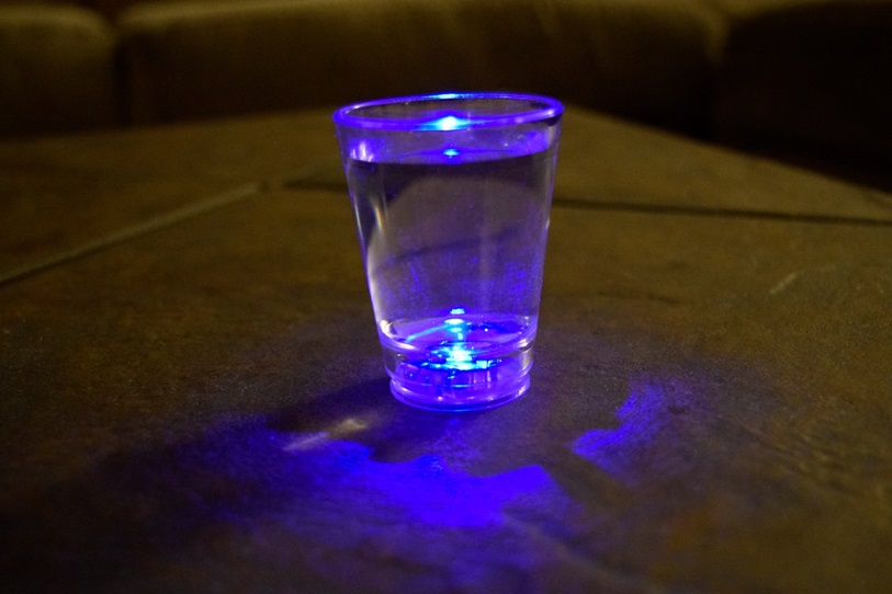 LED Light up Multicolor Shot glasses set 4pc  Eternity LED
