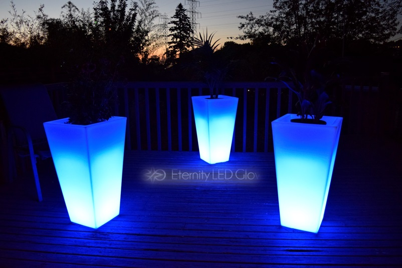 Light Up Flower Pot 31 LED Flower Pot Glow Planter