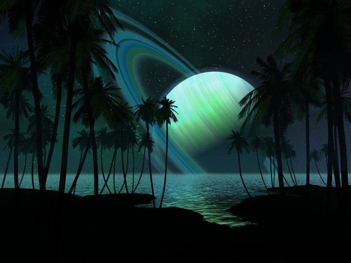 Um paraíso tropical em uma exolua orbitando um exoplaneta tipo Saturno?