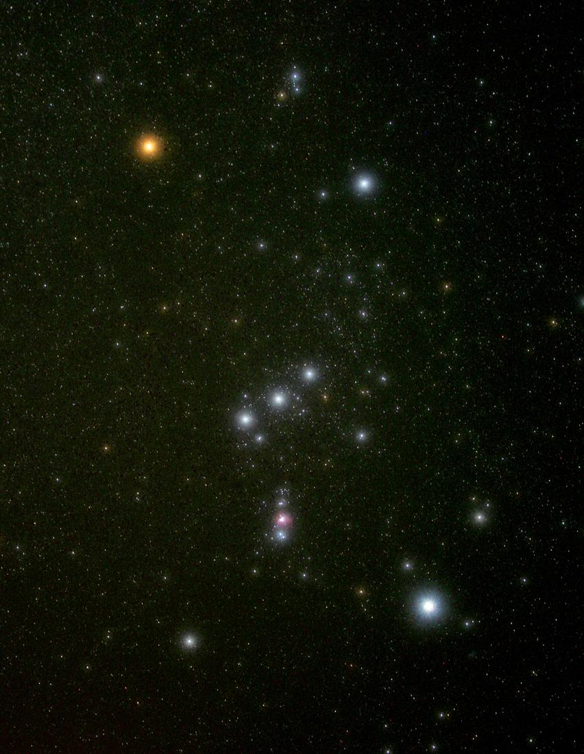A constelação de Órion fotografada por John Gauvreau {1} na festa da Floresta Negra