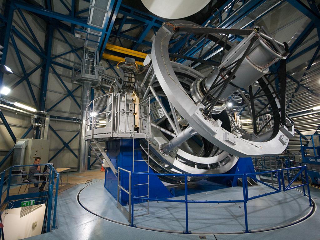 Telescópio de varredura VISTA. Crédito: ESO/Y. Beletsky