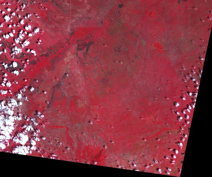 Imagem da Tanzânia em 21 de janeiro de 2003 pelo satélite TERRA da NASA, mostrando como era a região em condições normais. Crédito: NASA Earth Observatory