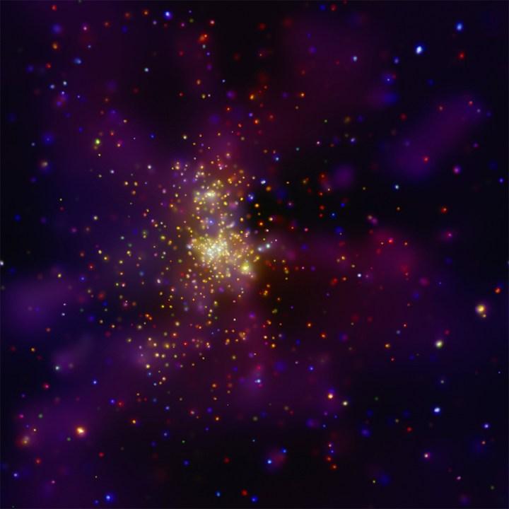 Aglomerado Westerlund 2 sob a visão de raios-X do Chandra