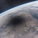 A Terra vista do espaço: como aparece a sombra da Lua durante um eclipse total?
