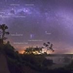 Uma noite estrelada na Foz do Iguaçu por Babak Tafreshi