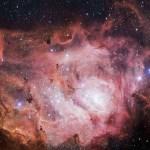 ESO mostra Imagens da Nebulosa da Lagoa capturadas pelo telescópio de rastreamento VST