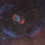 O belíssimo halo da nebulosa de emissão NGC 6164