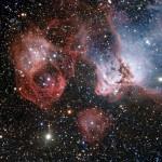 A Grande Nuvem de Magalhaes revela o flamejante fenômeno do nascimento e morte das estrelas