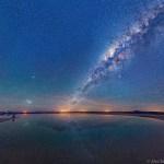 Via Láctea e Nuvens de Magalhães no Salar de Atacama por Alex Tudorica