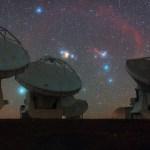 Orion, o gigante caçador, faz vigília no ALMA
