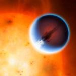 HD 189733b o exoplaneta tórrido (1.200 C) dos 'ventos uivantes' (a 8.600 km/h)
