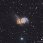 M51: A galáxia do rodamoinho e além por Álvaro Ibáñez Pérez
