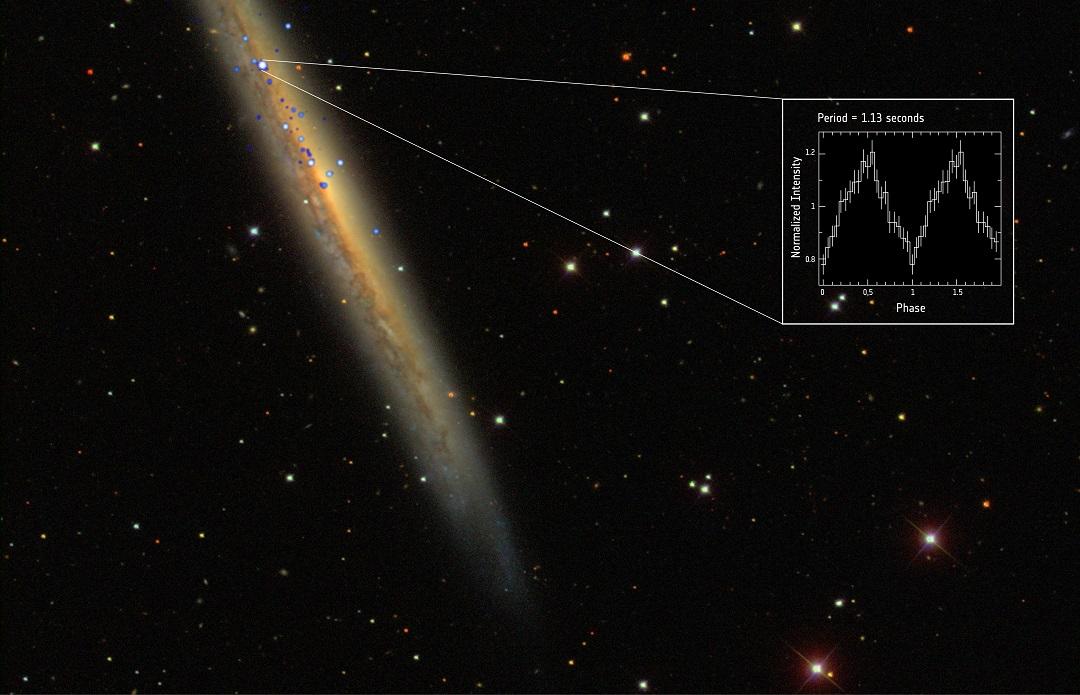 NGC 5907 X-1: XMM-Newton da ESA estuda o pulsar mais luminoso e distante conhecido