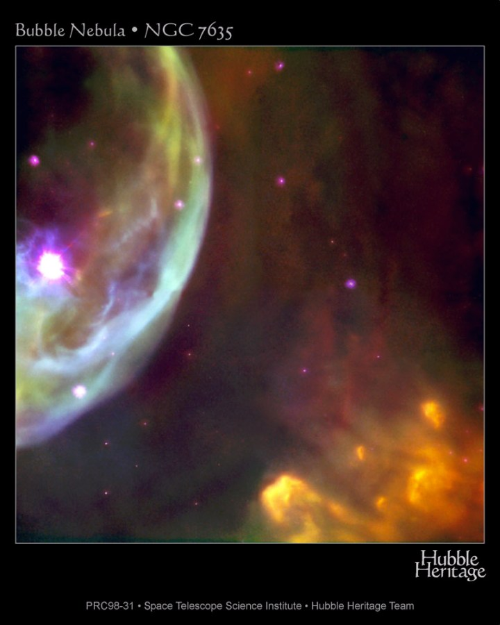 NGC 7635 - Close da Nebulosa da Bolha capturado pelo Hubble
