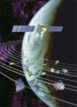 O satélite acionou seus foguetes para desviar dos escombros... ©CNES/David Ducros
