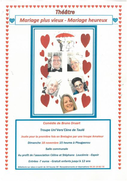 Mariage Pluvieux Mariage Heureux Theatre : mariage, pluvieux, heureux, theatre, Mariage, Vieux, -Mariage, Heureux, Plougasnou, (29630), Théâtre