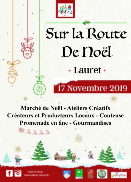 Sur La Route De Noël : route, noël, Route, Noël, Lauret, (34270), Marché