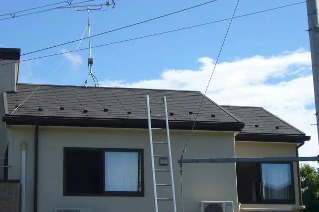 スレート屋根 工事前