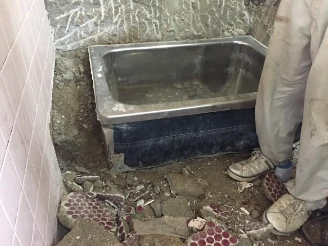 浴槽解体 リフォーム工事