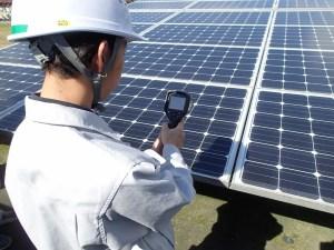 太陽光発電メンテナンス サーモカメラ