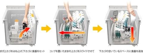 パナソニック 食洗器 ムービングラック