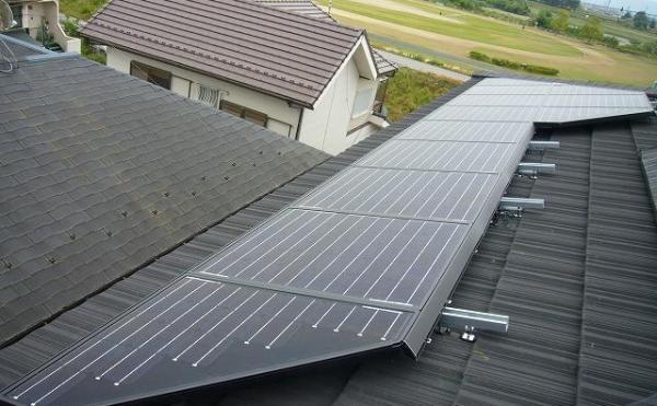 シャープ太陽光発電 瓦屋根