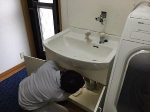 洗面台の入替工事