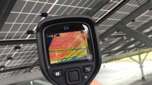 太陽光発電 IRカメラによる測定