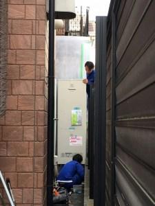 エコキュート設置搬入 京田辺市