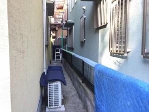 電気温水器の撤去するための養生