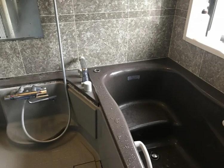 浴槽の工事前