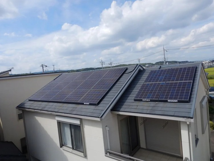 シャープ太陽光発電パネル