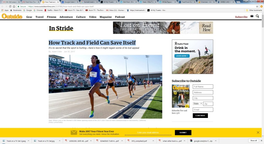 Other Ideas for Elite Track and Field