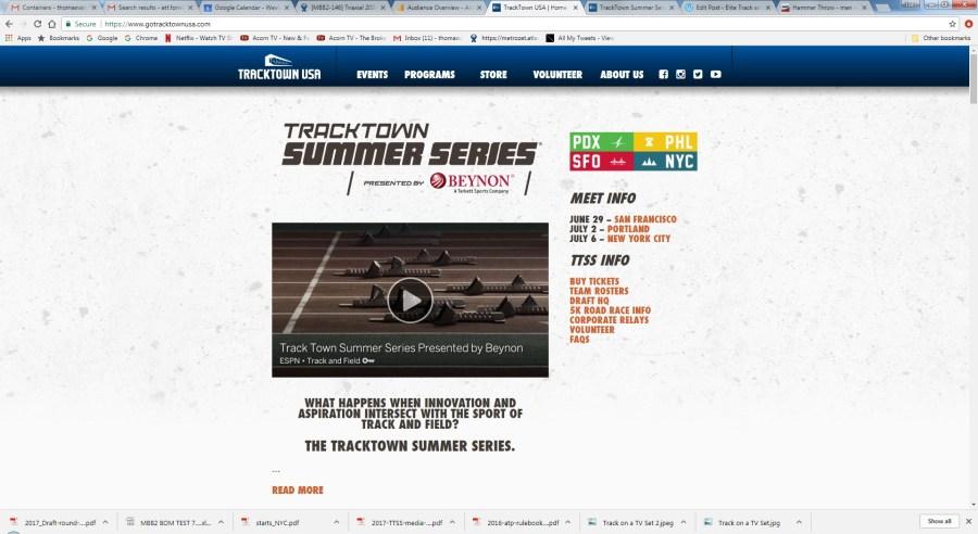Good Experiment: Tracktown Summer Series
