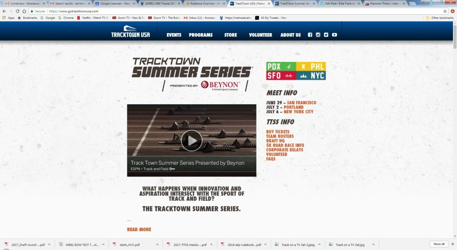 Good Experiment: Tracktown Summer Series