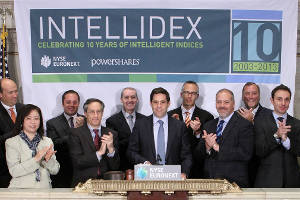 NYSE Euronext celebrates 10th anniversary of Intellidex Indices