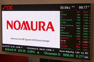 Nomura brings currency-hedged Nikkei ETFs to SIX Swiss Exchange