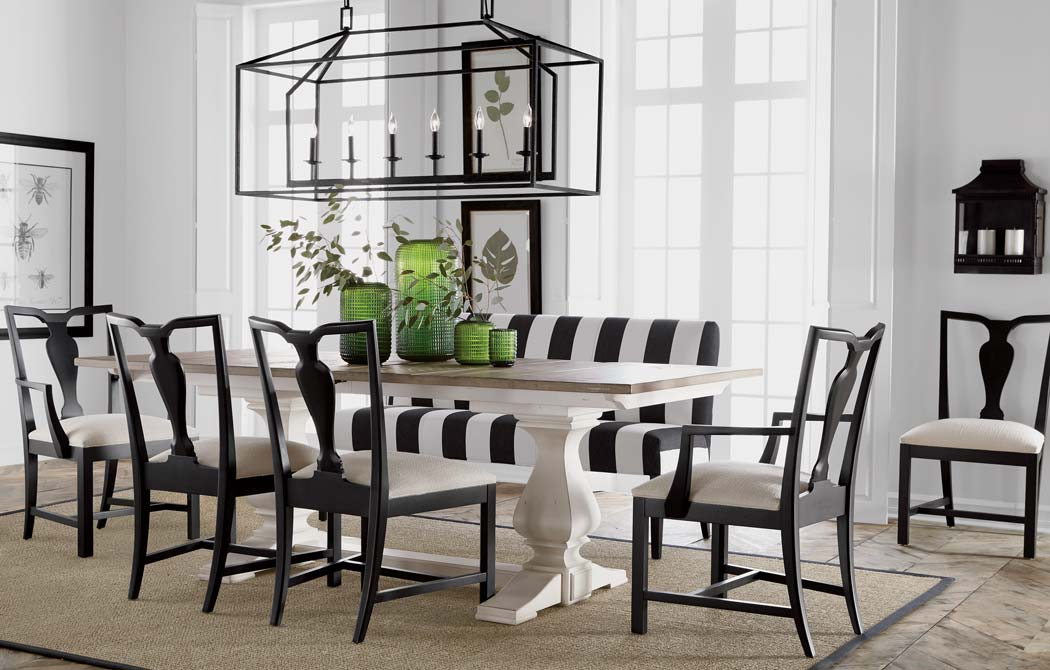 White Dining Room Chair Back To Black And White Dining Room Ethan Allen Ethan Allen