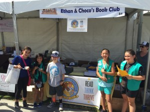 092516-oc-book-festival-ethan-with-girls-from-troop-3115