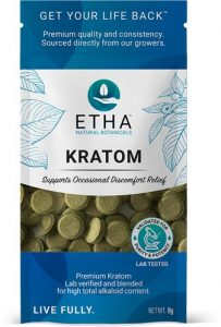etha travel pack kratom tea tablets