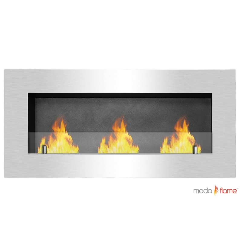 Fireplace Electric Wall Mount Moda Flame Hudson Recessed Wall Mounted Ethanol Fireplace