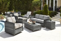 grey resin wicker patio furniture