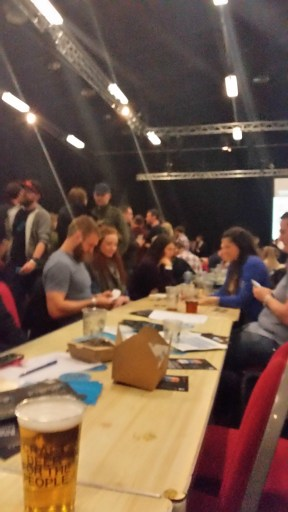 The long tables in the Boyd Ohr room at Brewdog Punk AGM 2016
