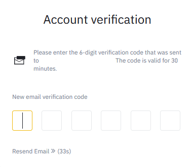 Epost verifikasjon på Binance