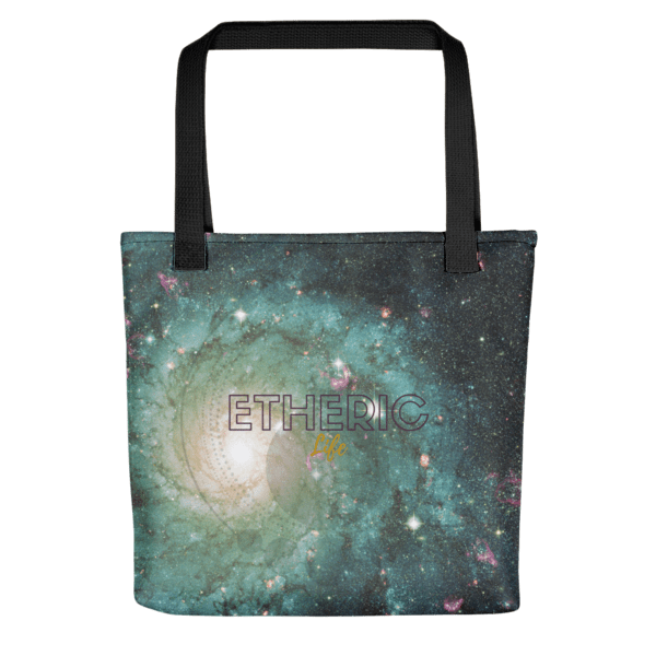 green galaxy logo tote
