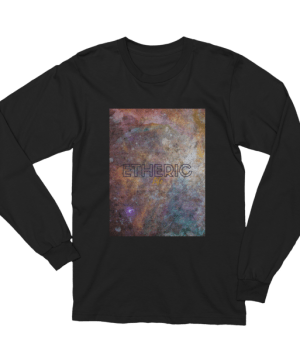 etheric life rainbow galaxy long sleeve tshirt black