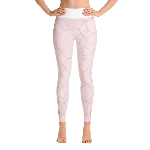 etheric life pink full moon collection leggings front